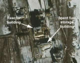Images of 5 MWe Reactor at Yongbyon Nuclear Site from January and April 2005  Photo