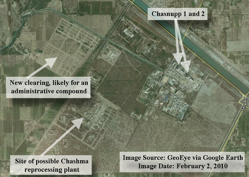 new satellite image of chashma nuclear site in pakistan institute for science and international security