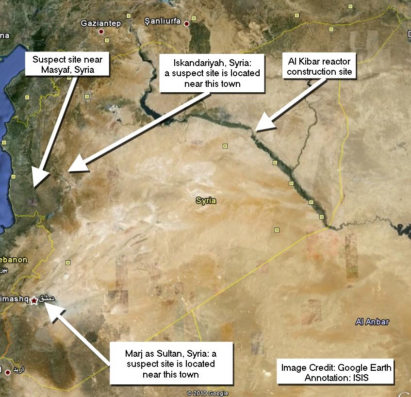 Satellite Image Shows Suspected Uranium Conversion Plant In Syria - Satellite map sites