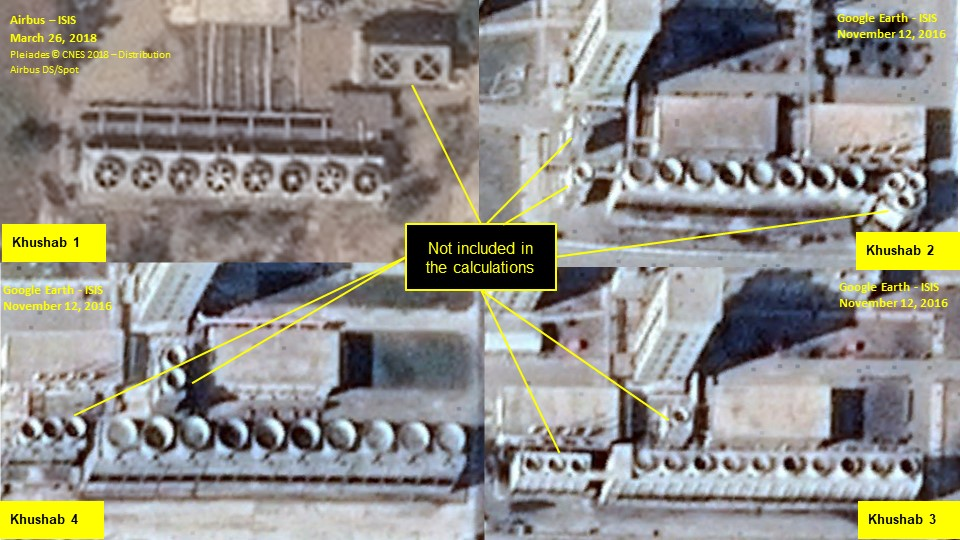 New Thermal Power Estimates of the Khushab Nuclear Reactors